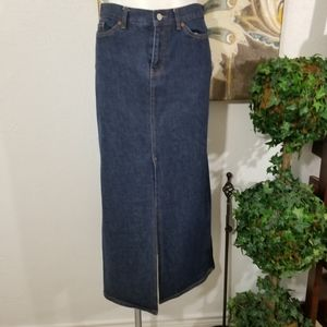 Gap Women A Line Maxi Stretch Denim Jean Skirt Sz6